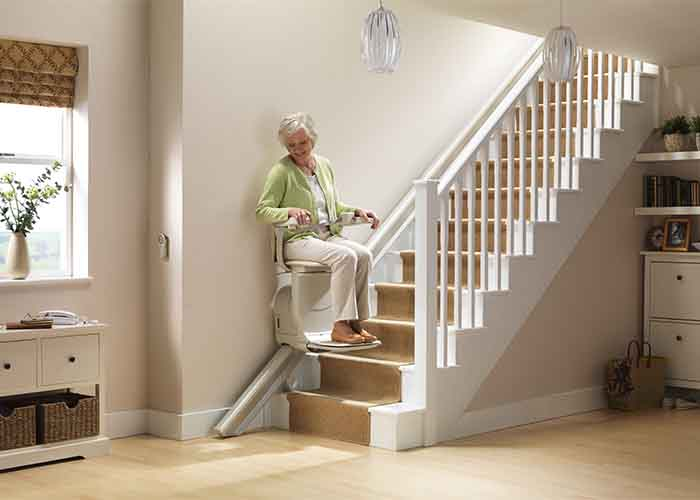 Stairlifts wheelchair lifts and dumbwaiters butler for Chaise escalier